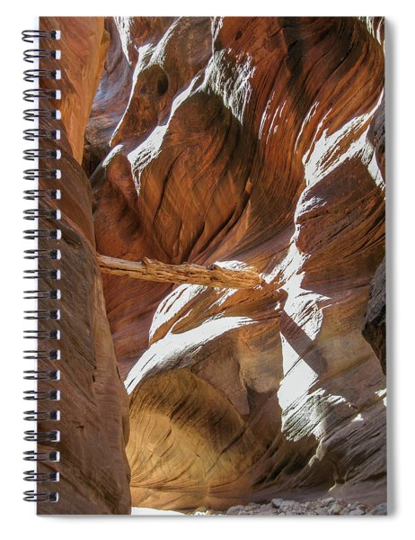 Caught In A Slot Spiral Notebook