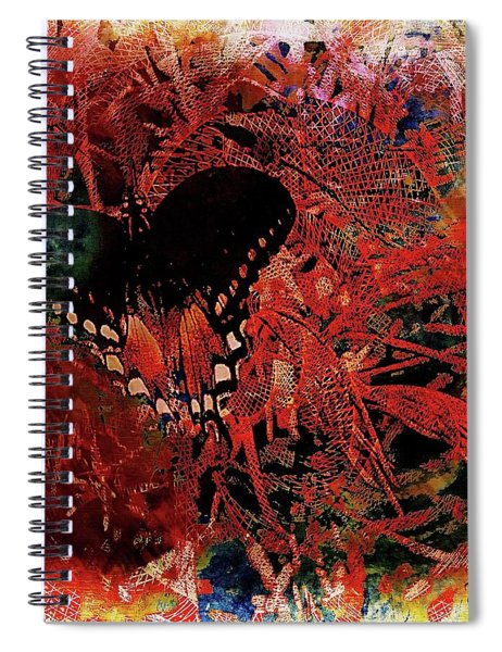 Caught In Life's Web Spiral Notebook