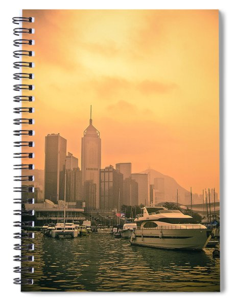 Causeway Bay At Sunset Spiral Notebook