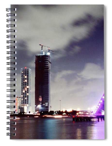 Causeway Bridge Skyline Spiral Notebook