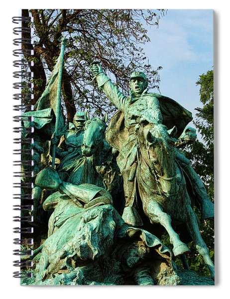 Cavalry Charge - Ulysses S. Grant Memorial Spiral Notebook