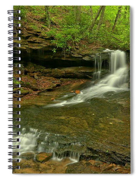 Cave Falls Arial View Spiral Notebook