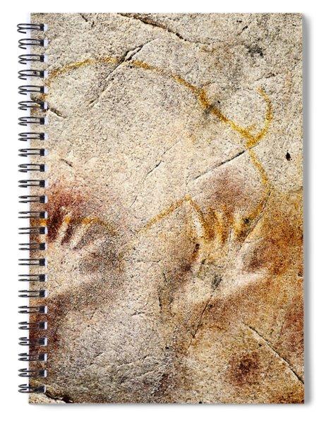 Cave Of El Castillo Hands And Bison Spiral Notebook