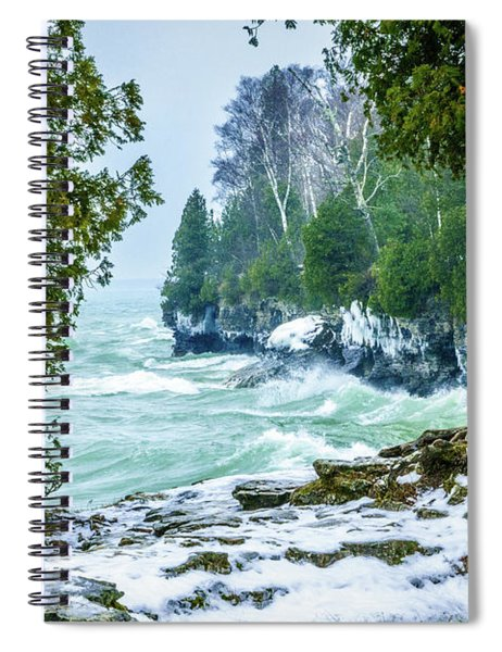 Cave Point #5 Spiral Notebook