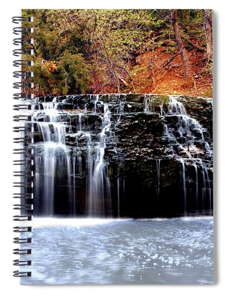 Cedar Creek Falls, Kansas Spiral Notebook
