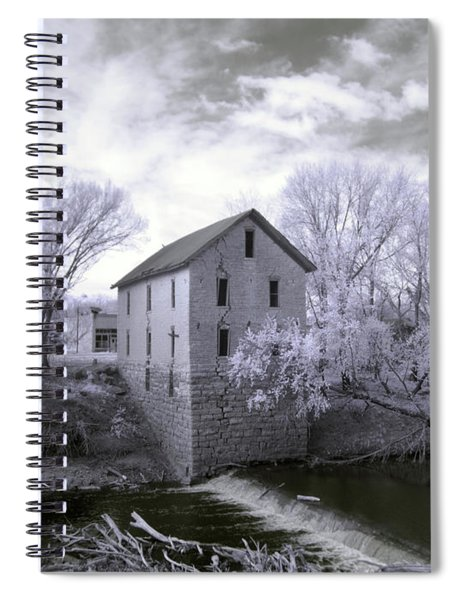 Cedar Point Mill In Infrared Spiral Notebook