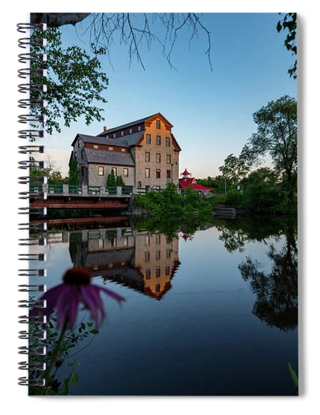 Cedarburg Mill Summer Night Spiral Notebook