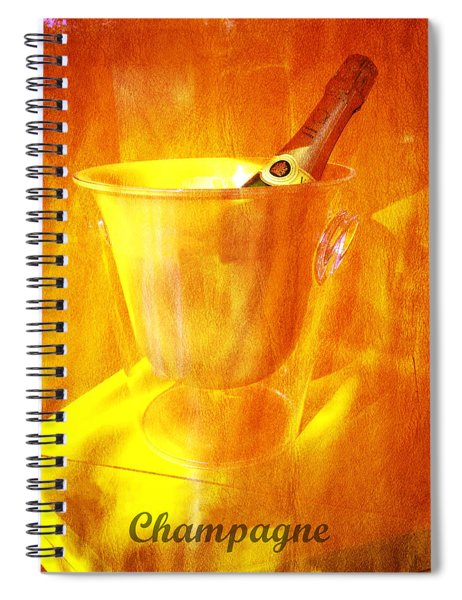 Celebrate With Champagne Spiral Notebook