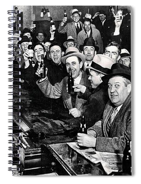 Celebrating The End Of Prohibition Spiral Notebook