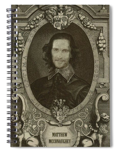 Celebrity Etchings - Matthew Mcconaughey   Spiral Notebook