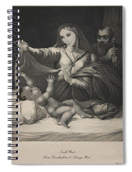 Celebrity Etchings - North Kim And Kanye Spiral Notebook