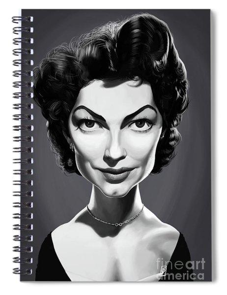 Celebrity Sunday - Ava Gardner Spiral Notebook