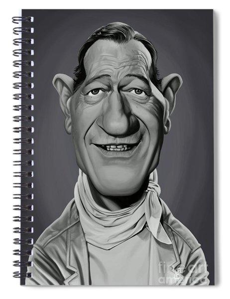 Celebrity Sunday - John Wayne Spiral Notebook