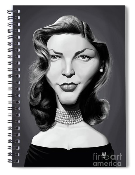 Celebrity Sunday - Lauren Bacall Spiral Notebook