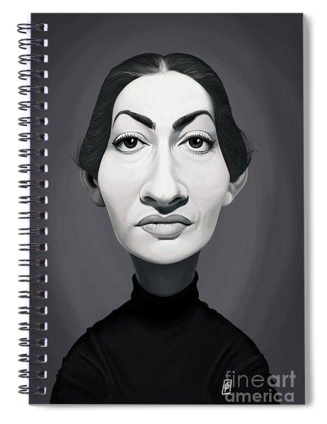 Celebrity Sunday - Maria Callas Spiral Notebook