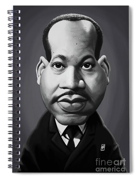 Celebrity Sunday - Martin Luther King Spiral Notebook