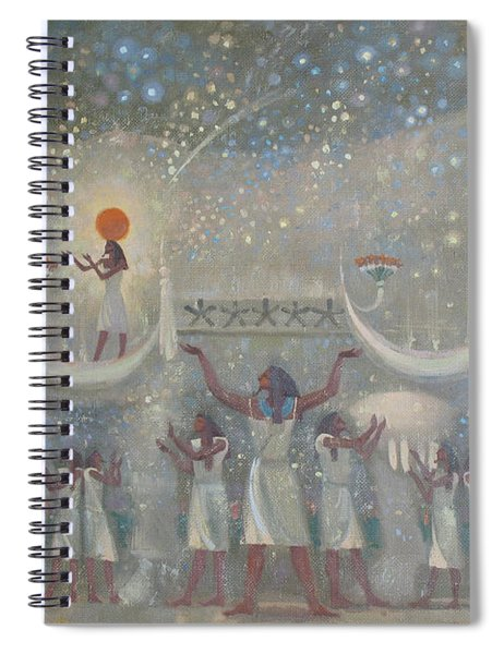 Celestial Cow Spiral Notebook