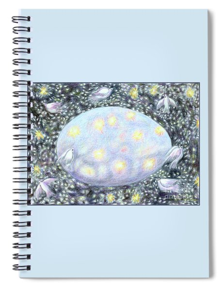 Celestial Egg Spiral Notebook