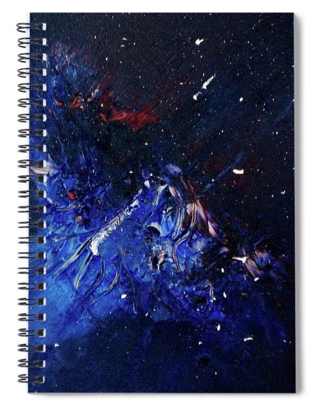 Spiral Notebook featuring the painting Celestial Harmony by Michael Lucarelli