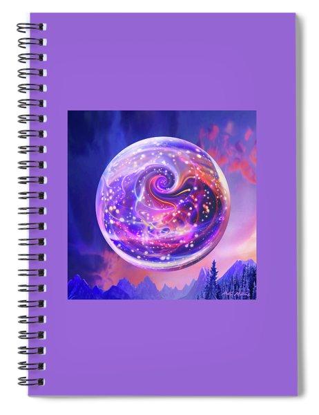 Celestial Snow Globe Spiral Notebook