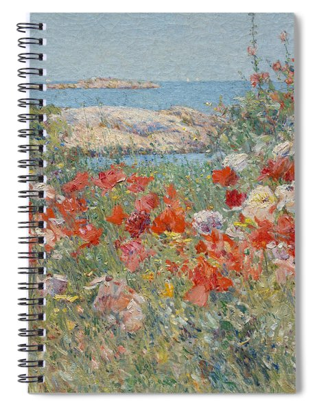 Celia Thaxter's Garden, Isles Of Shoals, Maine, 1890 Spiral Notebook
