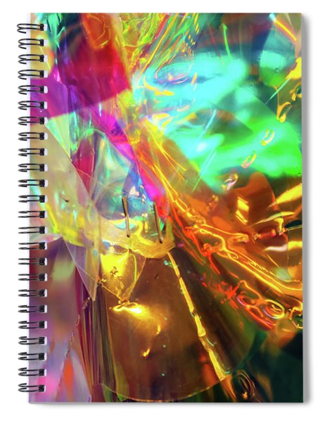 Cellophane And Lights Abstract One Spiral Notebook