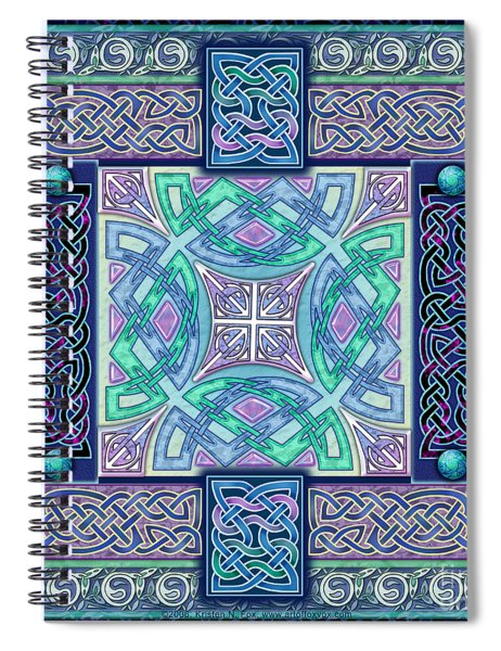 Celtic Atlantis Opal Spiral Notebook
