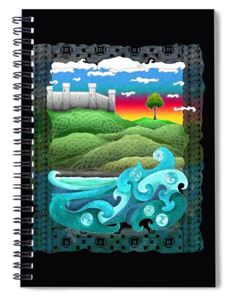 Celtic Castle Tor Spiral Notebook