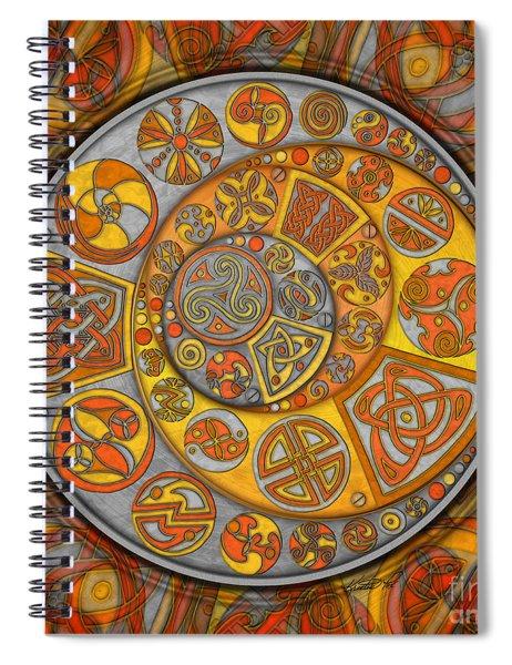 Celtic Crescents Spiral Notebook