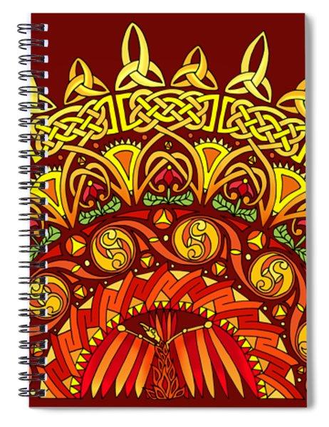 Celtic Dawn Spiral Notebook