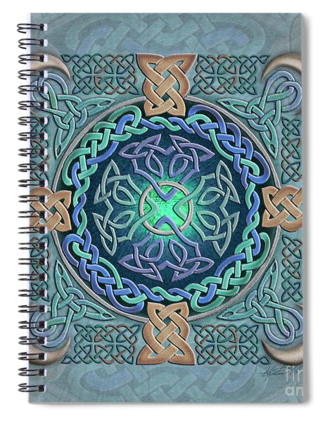 Celtic Eye Of The World Spiral Notebook