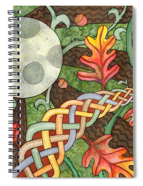 Celtic Harvest Moon Spiral Notebook