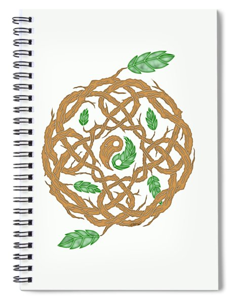 Celtic Nature Yin Yang Spiral Notebook