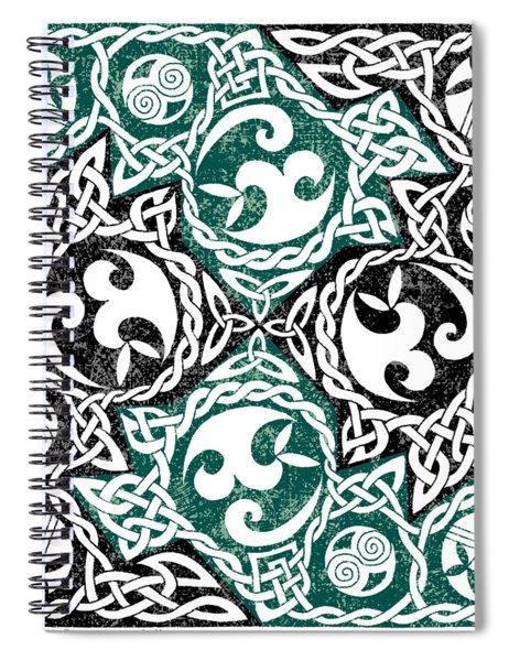 Celtic Puzzle Square Spiral Notebook
