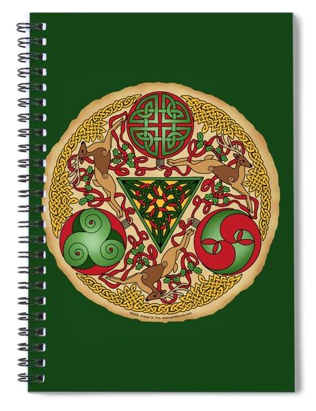 Celtic Reindeer Shield Spiral Notebook