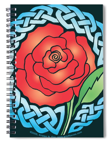 Celtic Rose Stained Glass Spiral Notebook