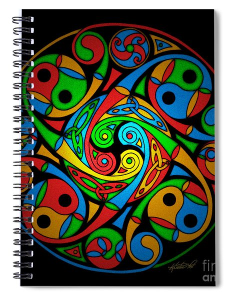 Celtic Stained Glass Spiral Spiral Notebook