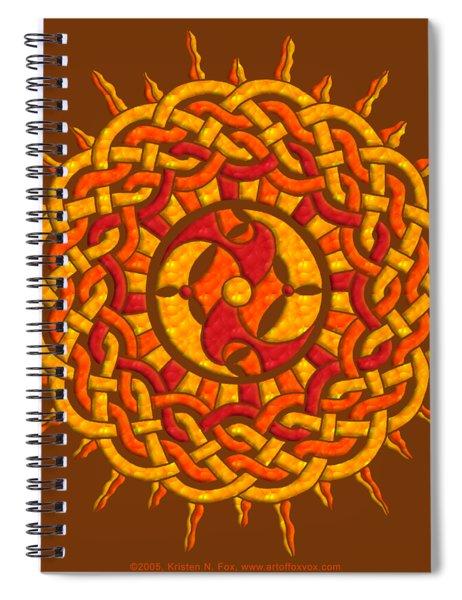 Celtic Sun Spiral Notebook