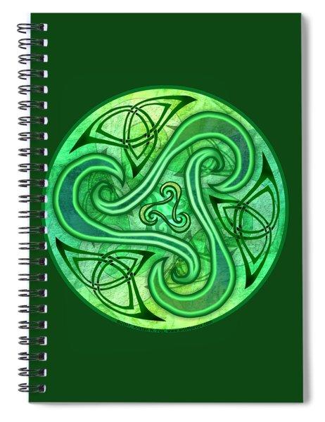 Celtic Triskele Spiral Notebook