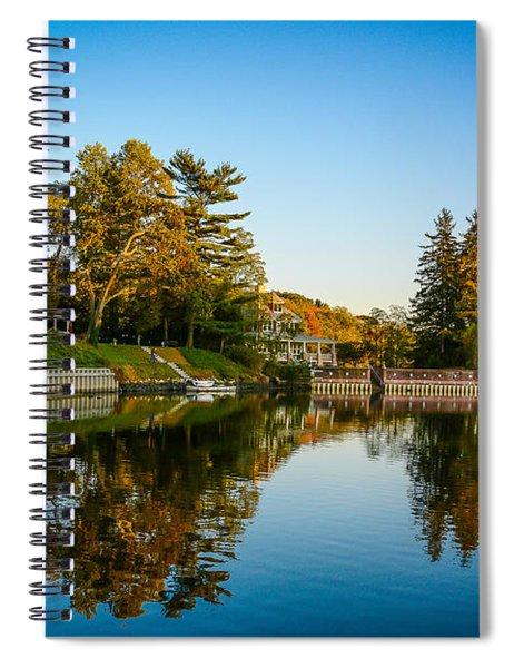 Centerport Harbor Autumn Colors Spiral Notebook