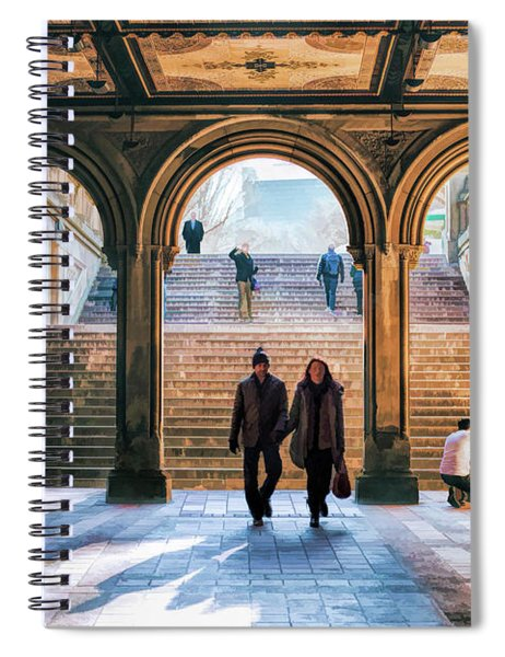 New York City Central Park Bethesda Terrace Arcade Spiral Notebook