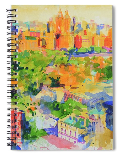 Central Park From The Carlyle Spiral Notebook
