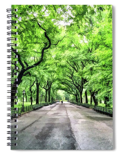 New York City Central Park Mall Spiral Notebook