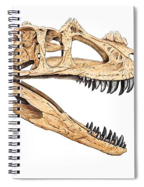 Ceratosaur Skull Spiral Notebook