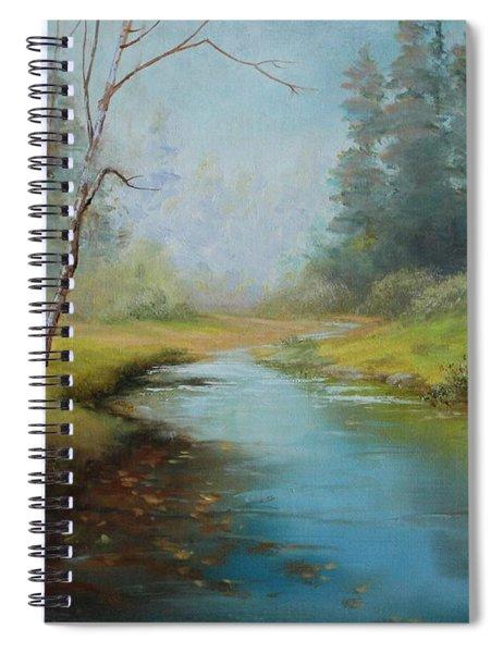 Cerulean Blue Stream Spiral Notebook