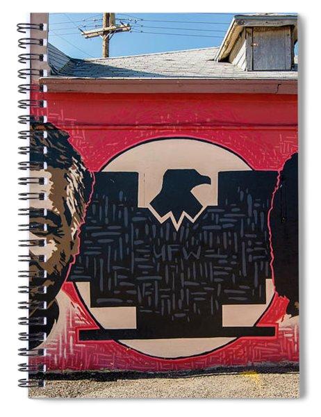 Cesar Chavez And Dolores Huerta Mural - Utah Spiral Notebook