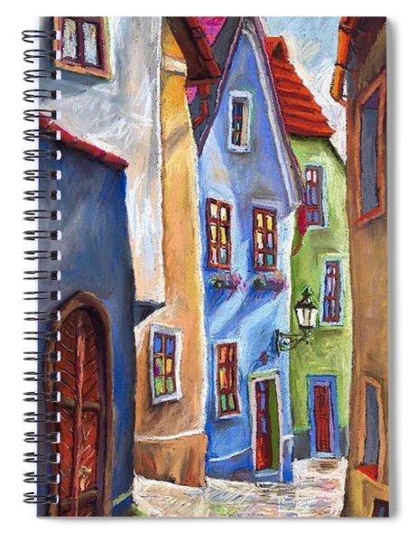 Cesky Krumlov Old Street Spiral Notebook