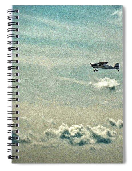 Cessna 140 Departing Delaware Coastal Airport At Georgetown Spiral Notebook