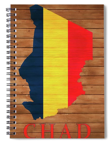 Chad Rustic Map On Wood Spiral Notebook
