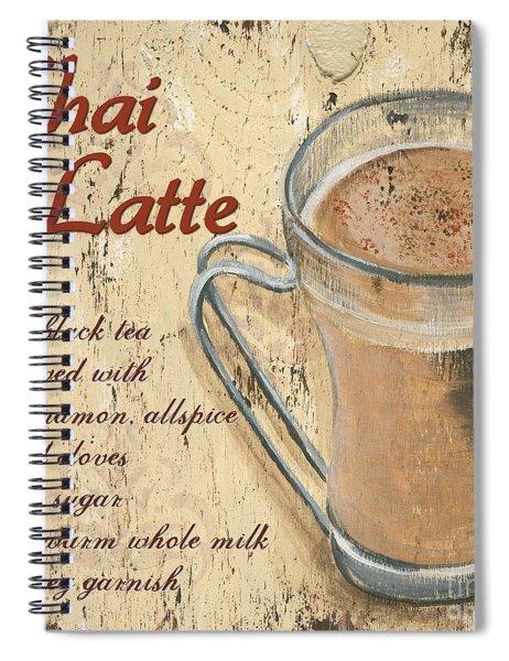 Chai Latte Spiral Notebook